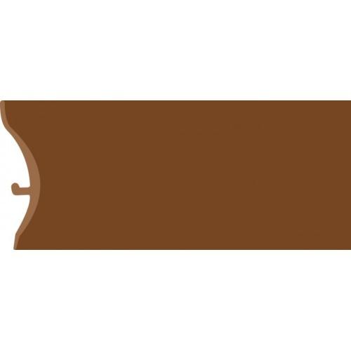 Каннелюрный трехсоставной плинтус для линолеума коричневый