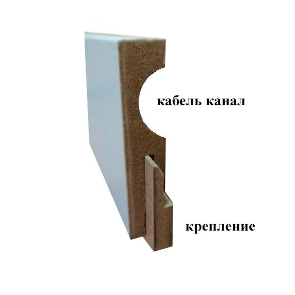Плинтус МДФ Floorplinth 80x16x2070 0052 Дуб Северный / шт.