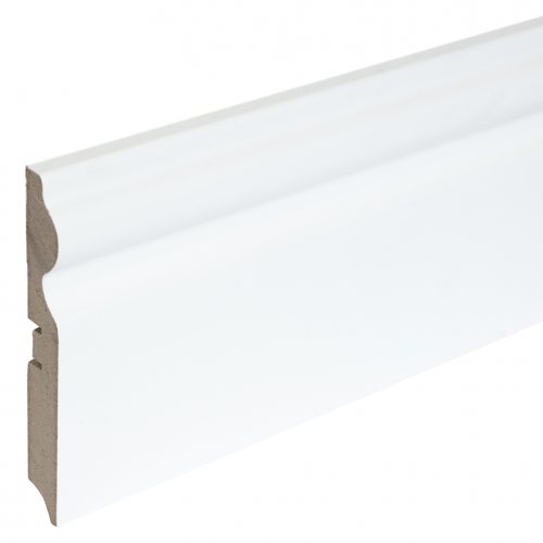 Плинтус МДФ фигурный под покраску Smartprofile paint 116 мм, Белый 2,4 м