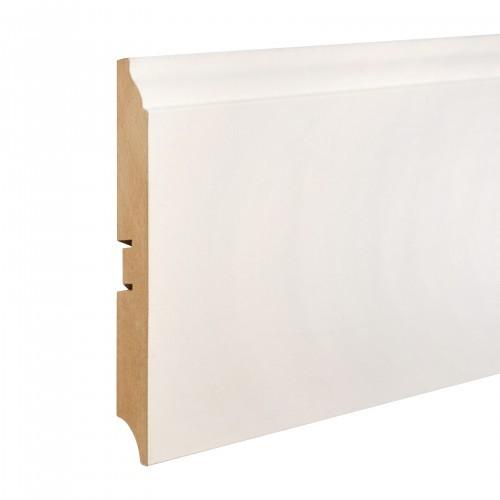 Плинтус МДФ Smartprofile Paint 116D (116 мм) Белый под покраску
