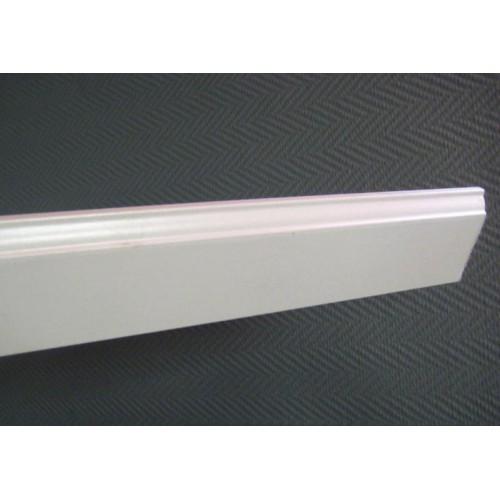 Плинтус МДФ фигурный под покраску Smartprofile paint 82 мм, Белый 2,4 м