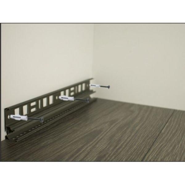 Плинтус пластиковый напольный Декор-Пласт 2500х67х25мм. Дуб кантри серый LL008 / шт.