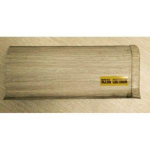 Напольный пластиковый плинтус пвх Идеал Комфорт к55 Ясень светлый 254 (ideal Comfort 55х22х2500 мм)