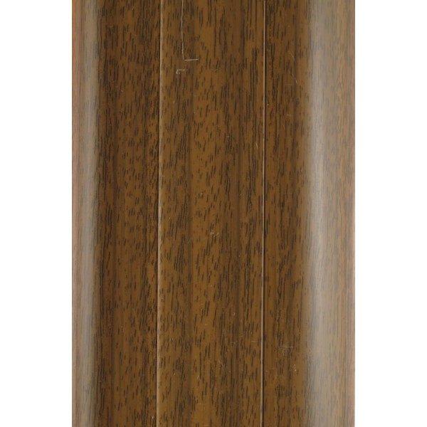 Напольный пластиковый плинтус пвх Идеал Комфорт к55 Орех 291 (ideal Comfort 55х22х2500 мм)