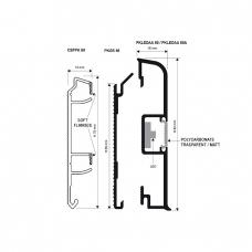 КАБЕЛЬ-КАНАЛ CSPPK 80 из коэкструдированного ПВХ (2м) для плинтуса Proskirting-LED