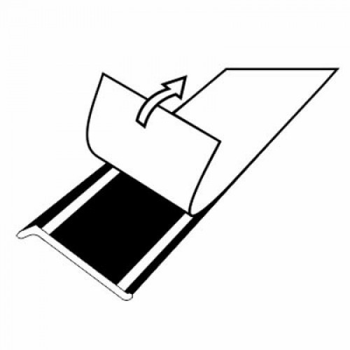 Плинтус алюминиевый самоклеящийся (60 мм) Серебро