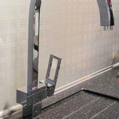 Кухонный плинтус для столешниц Rico Technical алюминиевый вогнутый (28х28 мм)