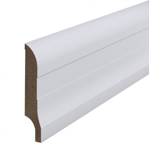 Плинтус МДФ Madest Decor грунтованный (83мм) Белый под покраску