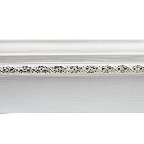 Плинтус МДФ Smartprofile 3D wood (82 мм) Белый текстурированный с орнаментом