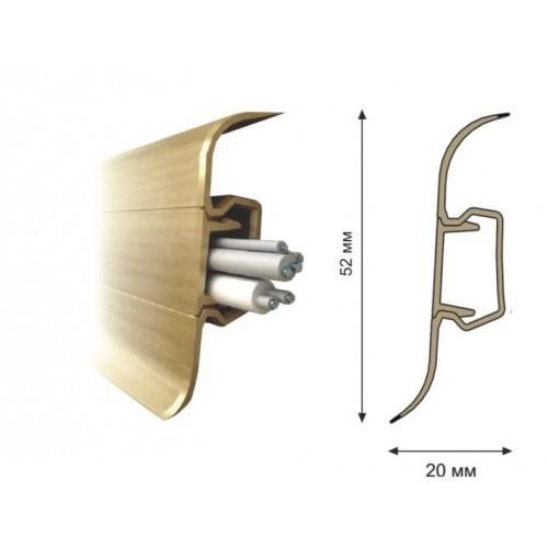 Плинтус ПВХ Rico (52 мм) Дуб Альпийский 80