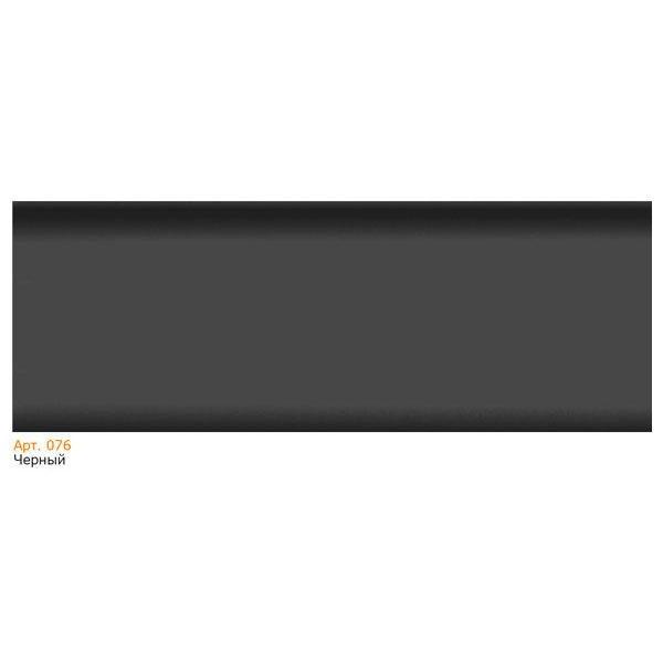 Плинтус напольный пластиковый T-plast, с кабель-каналом, 58х22x2500 мм. 076 Черный / шт.