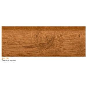 Плинтус напольный пластиковый T-plast, с кабель-каналом, 58х22x2500 мм. 081 Тиковое дерево / шт.