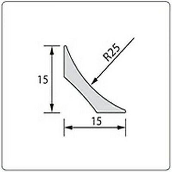 Плинтус для линолеума 30х2500 мм. 001 Белый