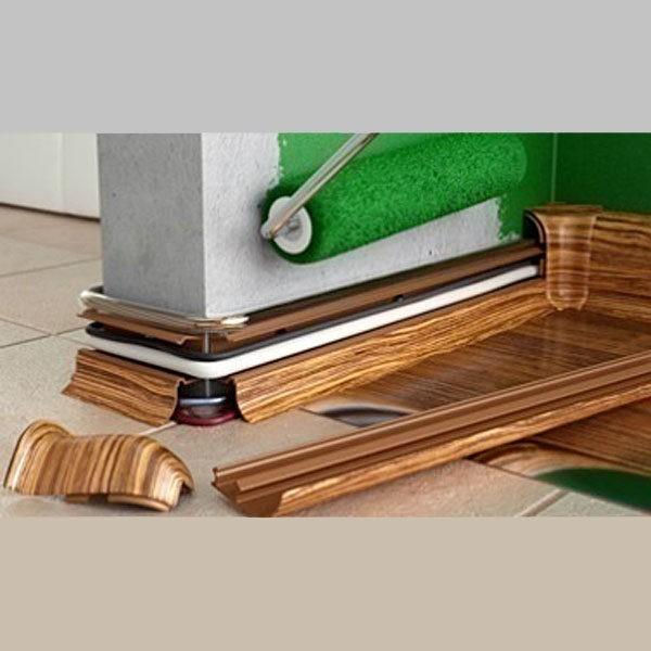 Плинтус Салаг (Salag) пластиковый, 2500 х 56 мм. NFG56 Орех веноста 44 / шт.