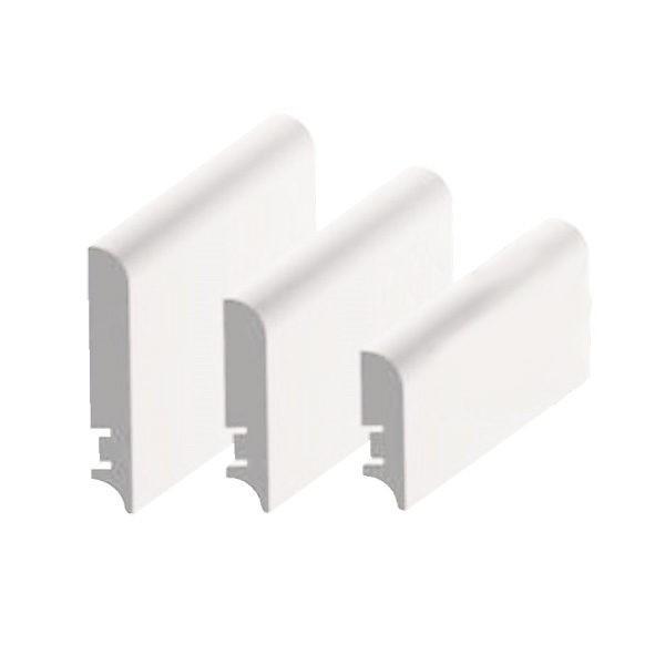 Плинтус МДФ 116×16х2050 мм. белый L-decor LP-102-116 / шт.