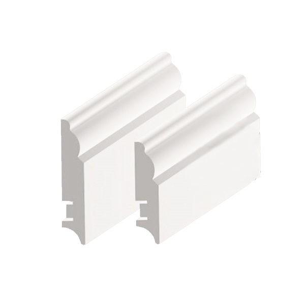 Плинтус МДФ 100×16х2400 мм белый L-decor LP-104-100 / шт.