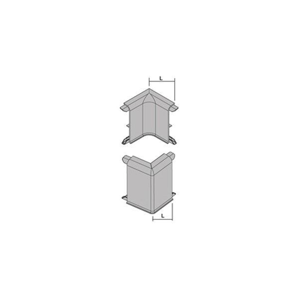 Плинтус алюминиевый анод. серебро с клеящим составом Proskirting PKAA 80A Progress profiles 2м.