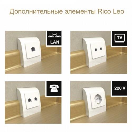 Плинтус Rico Leo Multicolor №100 Береза Гатчинская