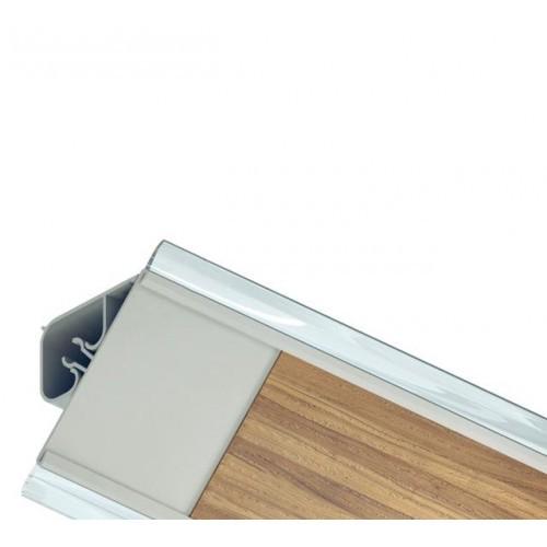 Кухонный плинтус для столешниц Rico Technical ПВХ (серебро)