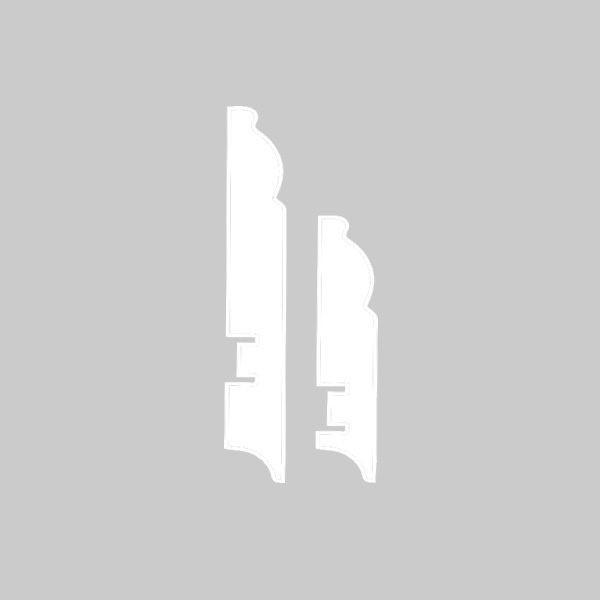 Плинтус МДФ 116×16х2050 мм. белый L-decor LP-104-116 / шт.