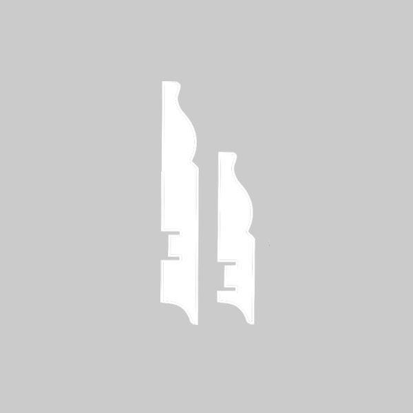 Плинтус МДФ 82×16х2400 мм белый L-decor LP-105-82 / шт.