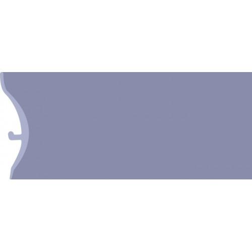 Каннелюрный трехсоставной плинтус для линолеума синий