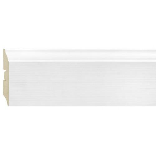 Плинтус МДФ Smartprofile Paint 3D wood 82 (82 мм) Фактурный белый под покраску