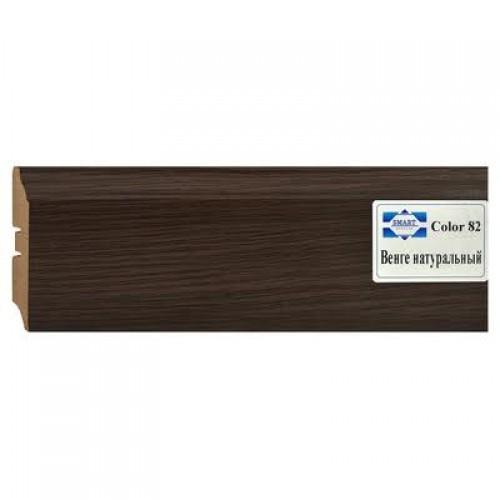 Плинтус МДФ Smartprofile Color 82 венге натуральный 2,4 м