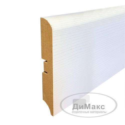 Плинтус МДФ Smartprofile Paint 3D wood 100М (100мм) Фактурный белый под покраску