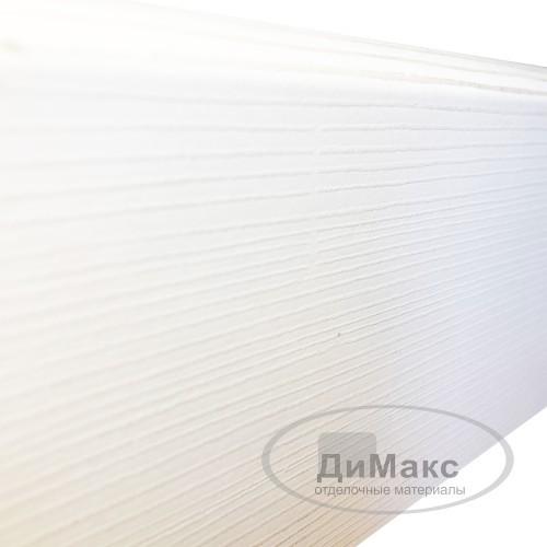 Плинтус МДФ Smartprofile Paint 3D wood 80M (80мм) Фактурный белый под покраску