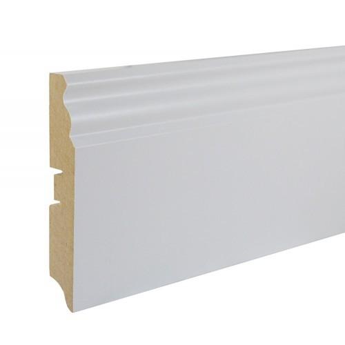 Плинтус МДФ Smartprofile Paint 100E (100 мм) Белый под покраску