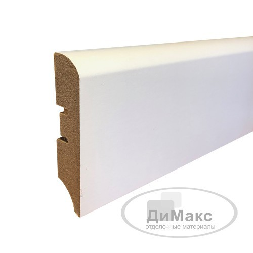 Плинтус МДФ Smartprofile Paint 68М (68 мм) Белый под покраску
