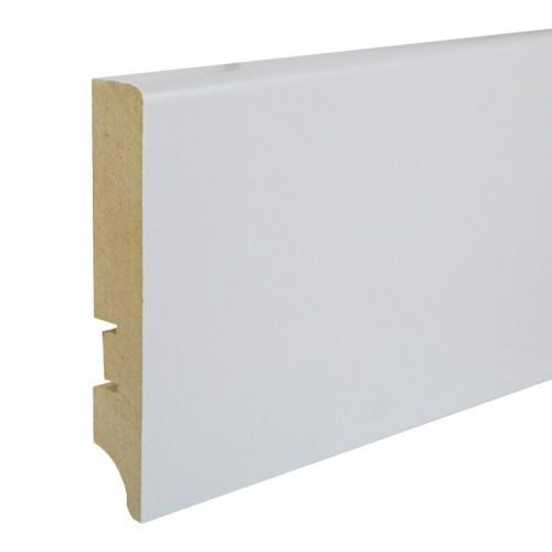 Плинтус МДФ Smartprofile Paint 100А (100мм) Белый под покраску