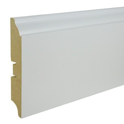 Плинтус МДФ Smartprofile Paint 100B (100мм) Белый под покраску
