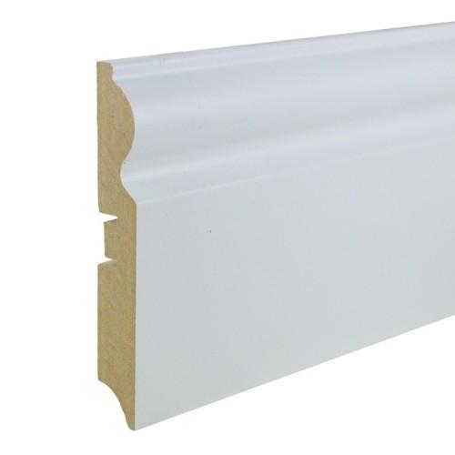 Плинтус МДФ под покраску Smartprofile Paint 110с, 110 мм Белый