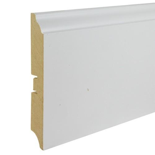 Плинтус МДФ под покраску Smartprofile Paint 120b, 120 мм Белый