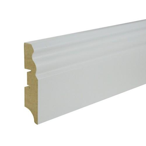 Плинтус МДФ под покраску Smartprofile Paint 70e, 70 мм Белый