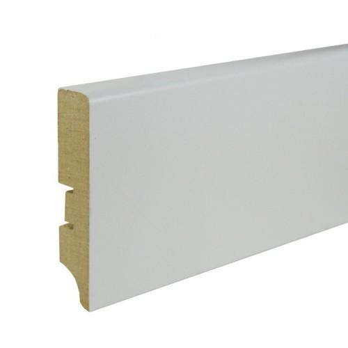 Плинтус МДФ под покраску Smartprofile Paint 80а, 80 мм Белый