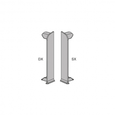 Заглушки торцовые (лев.+прав.) анод. серебро PKTDSAA 80/5 для плинтуса Proskirting