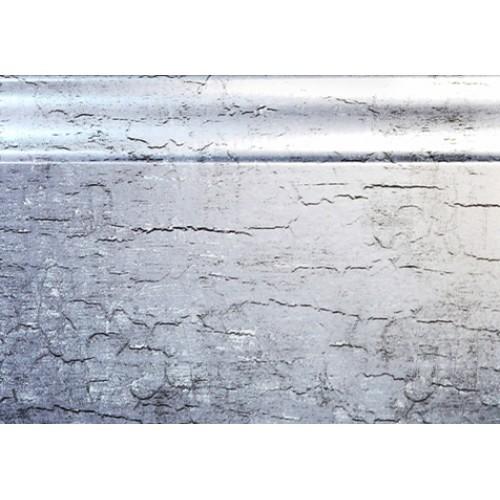 Плинтус МДФ Smartprofile Металлизированный 82 Серебро 2,4 м