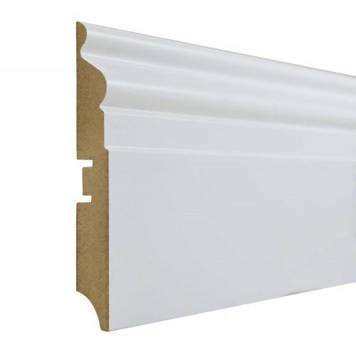 Плинтус МДФ Smartprofile Paint 110F (110мм) Белый под покраску