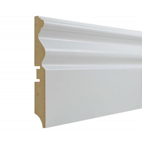 Плинтус МДФ Smartprofile Paint 110G (110мм) Белый под покраску
