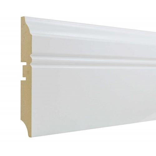 Плинтус МДФ Smartprofile Paint 100Н (100 мм) Белый под покраску