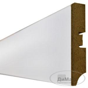 Плинтус МДФ Smartprofile Gloss 80A белый 2,4 м