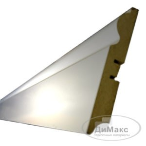 Плинтус МДФ Smartprofile Gloss 110C белый 2,4 м