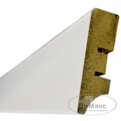 Плинтус МДФ Smartprofile Грунт 60а белый 2,4 м