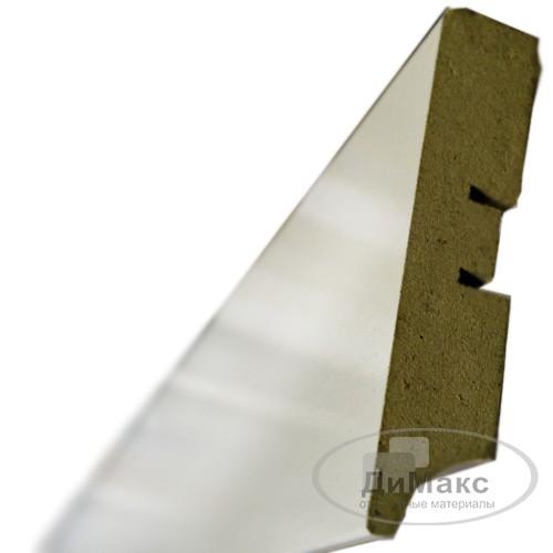 Плинтус МДФ Smartprofile Грунт 80а белый 2,4 м