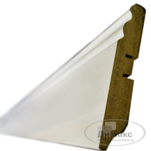 Плинтус МДФ Smartprofile Грунт 100e белый 2,4 м