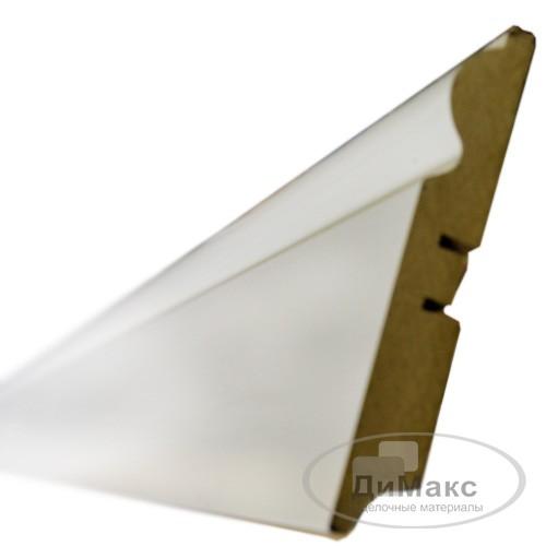 Плинтус МДФ Smartprofile Грунт 110c белый 2,4 м