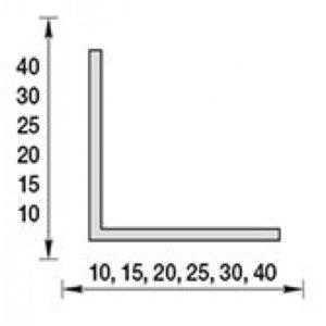 Угол пластиковый 002 Светло-серый 20х20х2700 мм. Идеал Ideal
